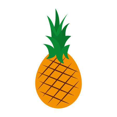 Fresh pineapple fruit healthy food vector illustration design.