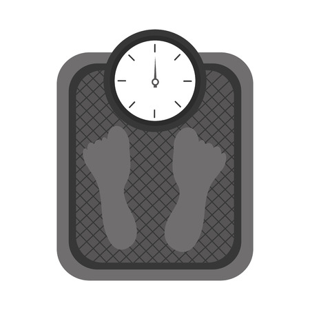 Fitness weight scale measuring loss image vector illustration outline design