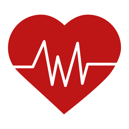 Heart cardio isolated icon vector illustration design.