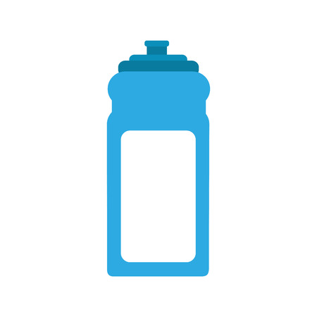 Pure water bottle gym vector illustration design