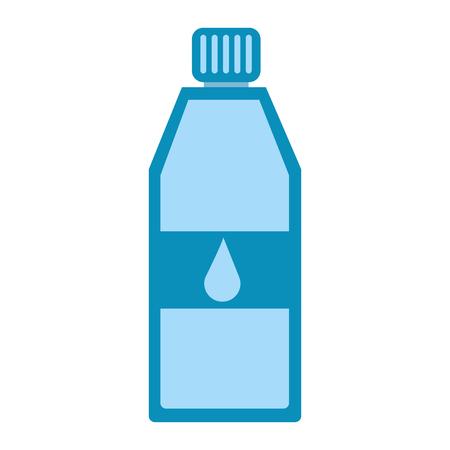 Pure water bottle icon vector illustration design