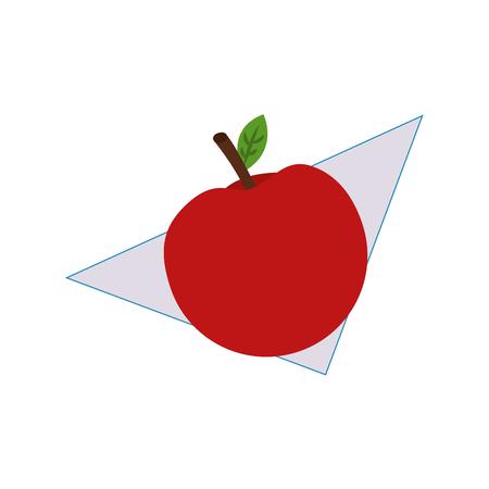 ナプキンベクターイラストデザインの新鮮なリンゴフルーツ  イラスト・ベクター素材