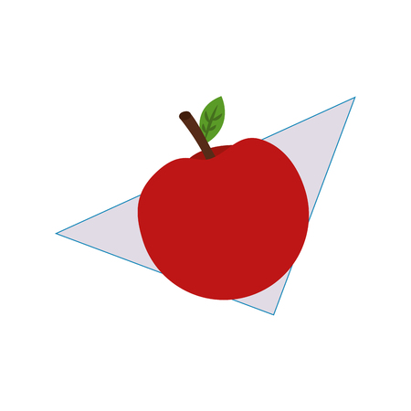 Fresh apple fruit in napkin vector illustration design Illustration