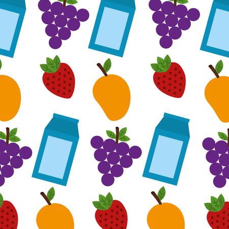 Healthy food pattern background vector illustration design. Illustration
