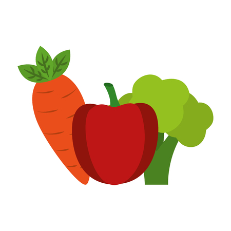 Fruits and vegetables group vector illustration design