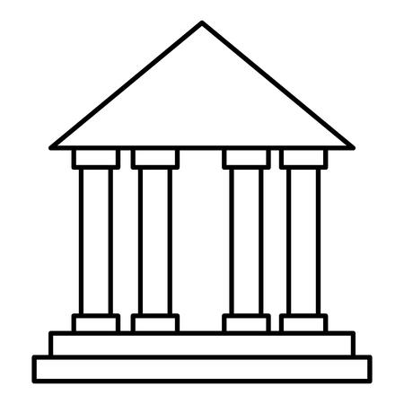 Bank, school building isolated icon vector illustration design.