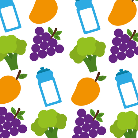 Healthy food pattern background vector illustration design. Stock Vector - 98617731