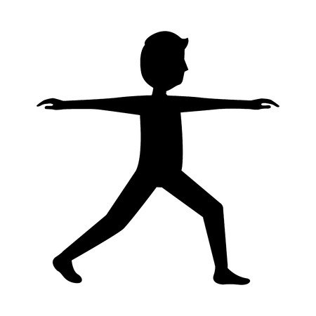 Sport fitness stretching man healthy lifestyle vector illustration outline design. 向量圖像