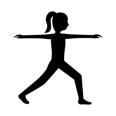 Sport fitness stretching woman healthy lifestyle vector illustration outline design 向量圖像