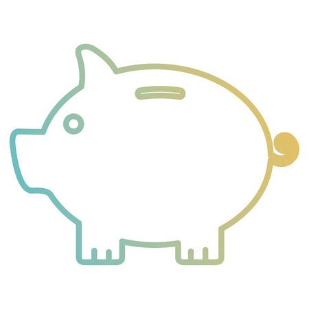 Schweinchen Spar isoliert Symbol Vektor-Illustration , Design , Standard-Bild - 98729384