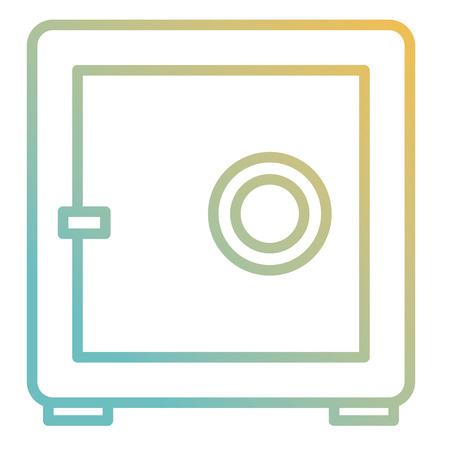 safe box isolated icon vector illustration design Foto de archivo - 98585836
