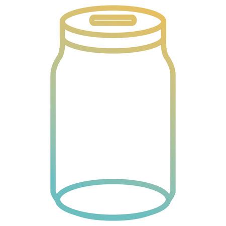 glass jar empty icon vector illustration design Ilustração