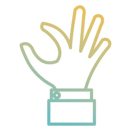 hand taking isolated icon vector illustration design