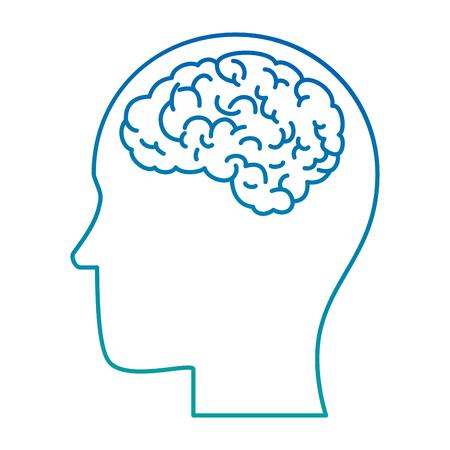 脳人間の臓器アイコンベクトルイラストデザインとプロファイル  イラスト・ベクター素材