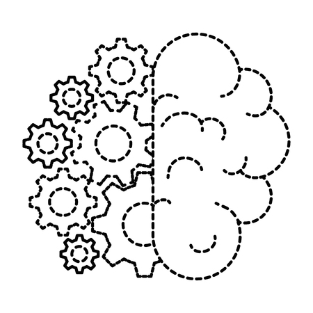 brain human with gears vector illustration design Stock Vector - 98611087