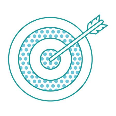 ターゲット矢印分離アイコンベクトルイラスト設計
