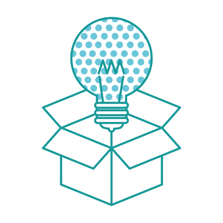 bulb light idea with box vector illustration design