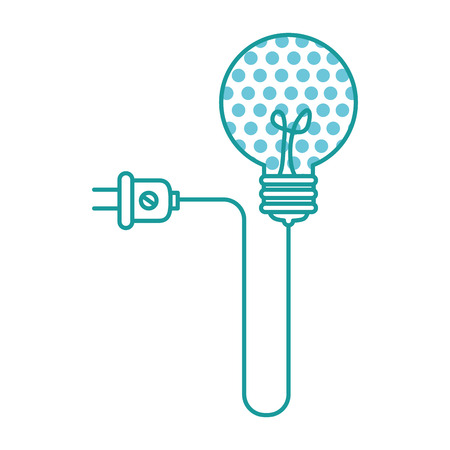 bulb light idea with energy plug vector illustration design