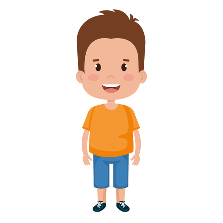 Happy little boy character vector illustration design. Illustration