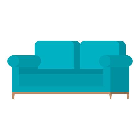 Comfortable sofa isolated icon vector illustration design.