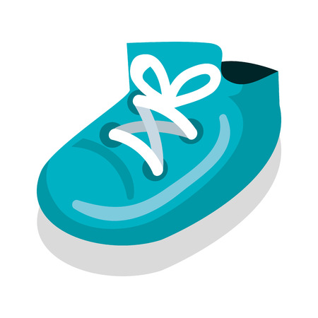 Baby shoe isolated icon vector illustration design.