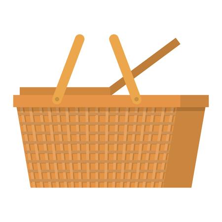 ピクニックバスケット空の孤立したアイコンベクトルイラストデザイン