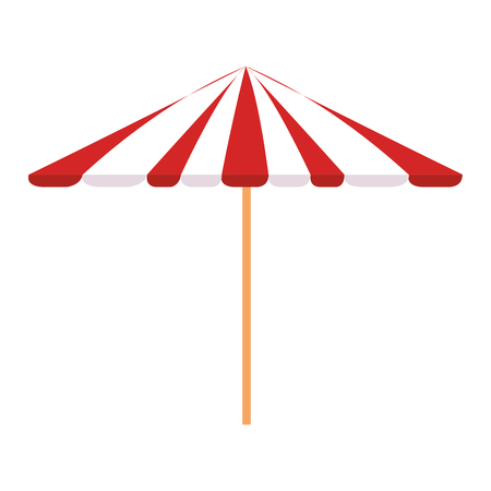 picnic umbrella isolated icon vector illustration design