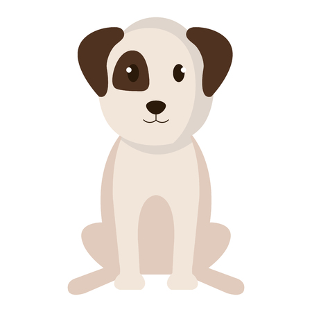 Dog bred pet friendly vector illustration design. Illustration