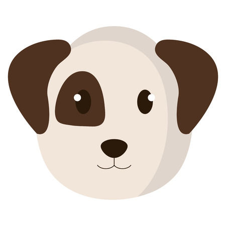 Cute dog head pet friendly vector illustration design.