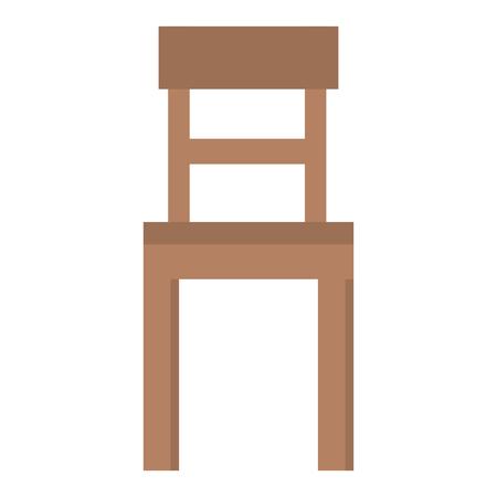 Wooden chair isolated icon vector illustration design. Illustration