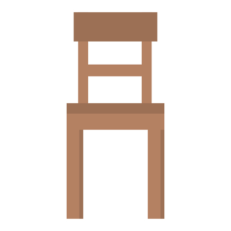 Wooden chair isolated icon vector illustration design. Stock Illustratie