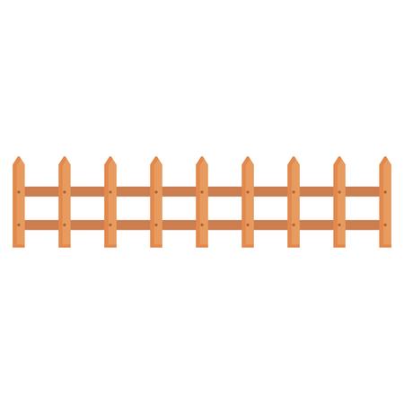hek houten geïsoleerde pictogram vector illustratie ontwerp Stock Illustratie