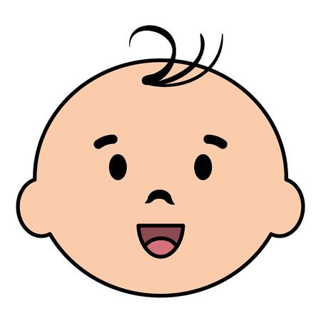little boy baby head character vector illustration design Stock Illustratie
