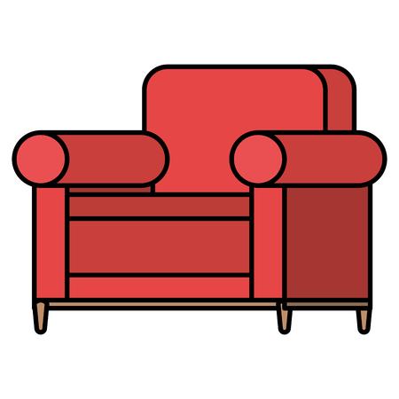 Progettazione dell'illustrazione di vettore dell'icona isolata sofà comodo Archivio Fotografico - 98632870