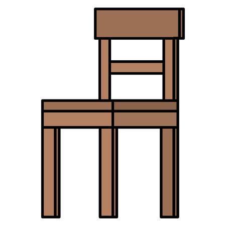 Diseño aislado del ejemplo del vector del icono de la silla de madera Foto de archivo - 98632871