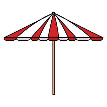 Picnic umbrella isolated icon vector illustration design