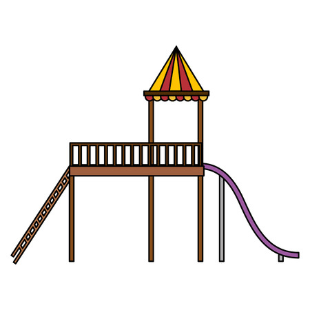 Slide playground game for children vector illustration design