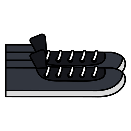 Shoe style young icon vector illustration design Çizim
