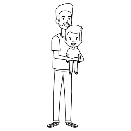 father lifting son characters vector illustration design Foto de archivo - 98629817
