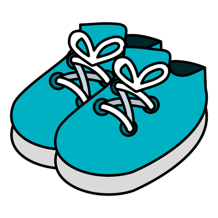 baby shoes isolated icon vector illustration design Vettoriali