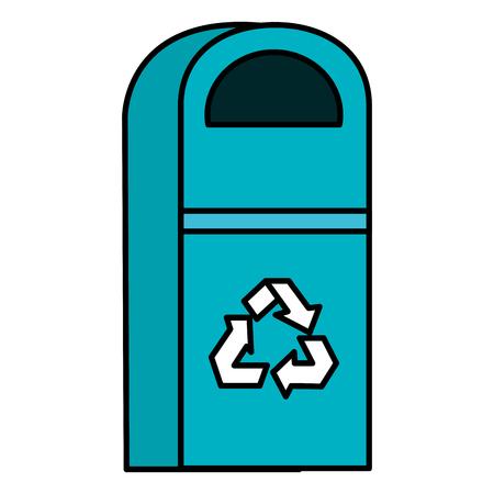 recycler bin pot icon vector illustration design