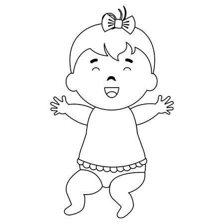 little baby girl character vector illustration design