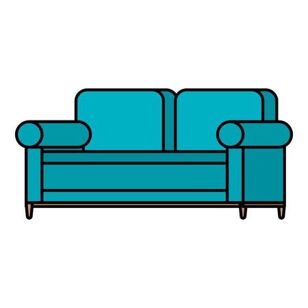 Progettazione dell'illustrazione di vettore dell'icona isolata sofà comodo Archivio Fotografico - 98630681