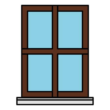 house window isolated icon vector illustration design Illustration