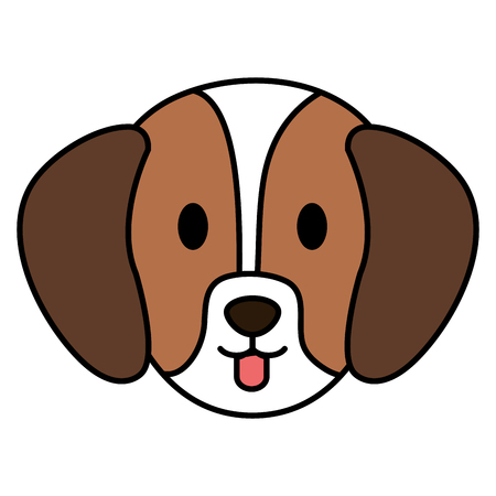 cute dog head pet friendly vector illustration design