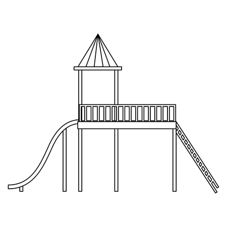 slide playground game for children vector illustration design Ilustração