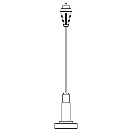 park lantern light icon vector illustration design Illustration