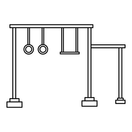swing playground game for children vector illustration design Stock Illustratie