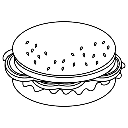 delicious hamburger isolated icon vector illustration design