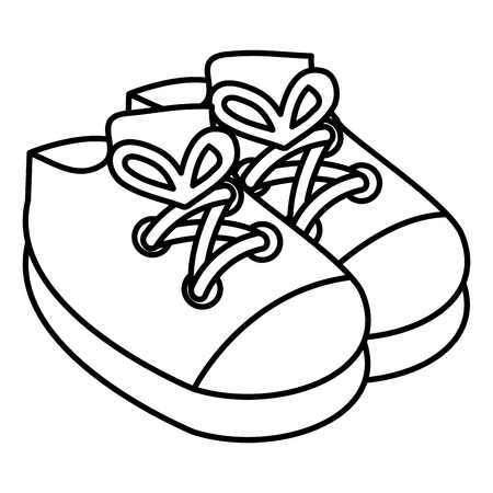 Baby shoes isolated icon vector illustration design